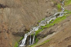 Stream between rocks Royalty Free Stock Photo