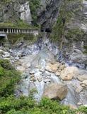 Stream rocks of hualian taroko gorge, adobe rgb Royalty Free Stock Photo