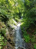 A dream of a stream. A stream running down mountainside Stock Photography