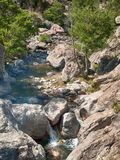 A stream running through a rocky mountain royalty free stock images