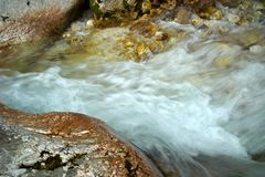 Stream Running Water. In the Moznica Slovenia royalty free stock photo