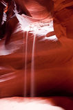 Stream of Sand in Antelope Canyon Royalty Free Stock Photos
