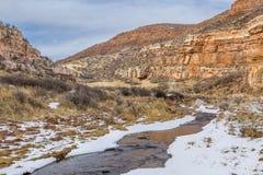 Stream in sandstone canyon Stock Photo