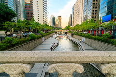 Stream In Seoul City Royalty Free Stock Photos