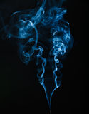 Stream of smoke. On a black background Royalty Free Stock Photography