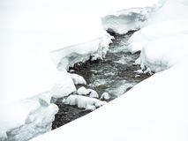 Stream on a snowy day Royalty Free Stock Images