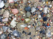 Stream stones. Colour stream stones. Different shapes and sizes Stock Images
