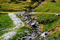 Stream. A stream with stones by sunshine Royalty Free Stock Images