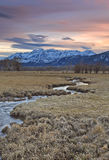 Stream at sunset in rural Utah, USA. Stock Photography