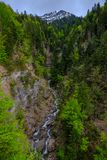 Stream in the Swiss mountains Royalty Free Stock Photos