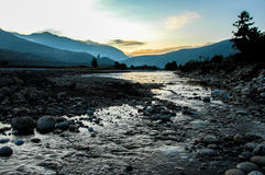 Stream  in Thimphu, Bhutan. Stock Images
