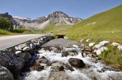 Stream at Tignes in France Stock Image