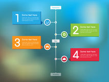 Stream Timeline Feed. This image is a vector file representing a Stream Timeline Feed Royalty Free Stock Photo