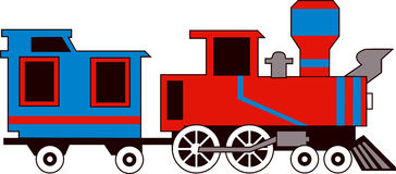 Stream Train. Adobe Illustrator steamtrain vector image available Vector Illustration