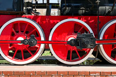 Stream train wheels Stock Image