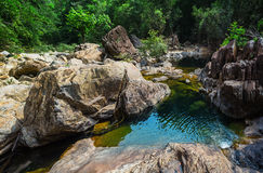 Stream in the tropical jungles of South East Asia Royalty Free Stock Photos