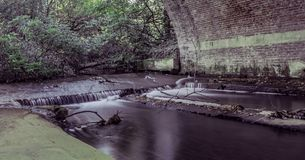 Stream under the bride in Virginia Water, Surrey, United Kingdom. Stream under the bride - Virginia Water, Surrey, United Kingdom Stock Photography