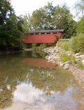 Stream under Covered Bridge Royalty Free Stock Photos