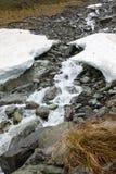 Stream under snow Stock Photos