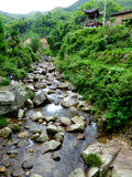The stream of the village Royalty Free Stock Photography