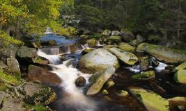 Stream of Vydra river Royalty Free Stock Photo