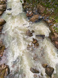 Stream of water. Flows down from the waterfall Stock Photo