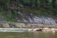 Beautiful tributary of the Yenisei River. Krasnoyarsk region, Russia Royalty Free Stock Images