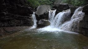 Stream waterfall stock footage