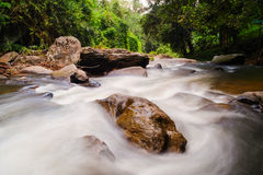 Stream of waterfall. Stream at smooth of waterfall Stock Image