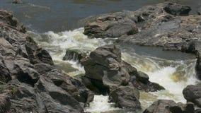 Stream Waterfall Between Stones stock video