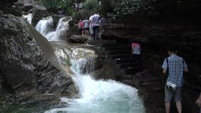 Stream waterfall stock video footage