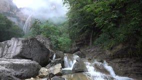Stream waterfall stock video