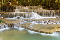 Stream waterfalls in deep tropical jungle Royalty Free Stock Photo