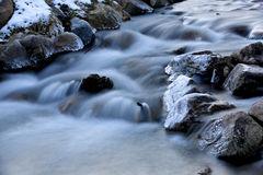 Stream in winter Royalty Free Stock Photo