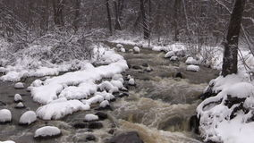 Stream in Winter Zoom In stock footage