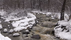 Stream in Winter Zoom Out stock video