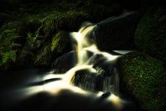 Stream in Wyming Brook Nature Reserve. Stream at Wyming Brook Nature Reserve - Peak District UK stock image