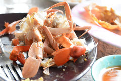 Streamed crab leftovers Royalty Free Stock Photos