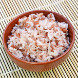 Streamed Rice. Stock Photo