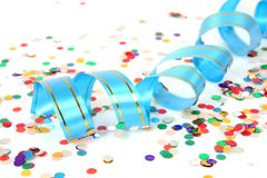 Streamer And Confetti Royalty Free Stock Photography