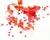 Streamer and confetti Stock Image