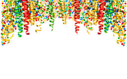 Streamer confetti Holidays carnival party serpentine decoration Stock Images