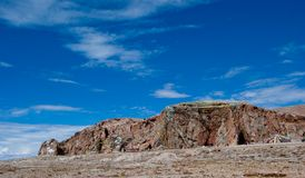 Streamer mountain in Tibet Royalty Free Stock Image