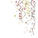 Streamer - Xmas ilustracja, wektorowy tło Zdjęcia Royalty Free