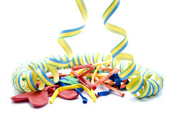 Streamers and aerial balloon Stock Photography