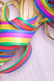 Streamers for carnival party Royalty Free Stock Images