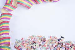 Streamers and confetti for carnival Royalty Free Stock Photography