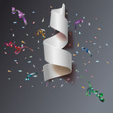 Streamers with confetti Royalty Free Stock Image