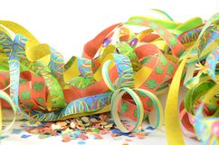 Streamers and confetti Royalty Free Stock Images