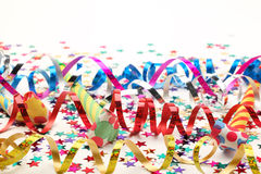 Streamers and confetti Stock Photography